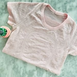 Lululemon Run Swiftly Short Sleeve Pink 6